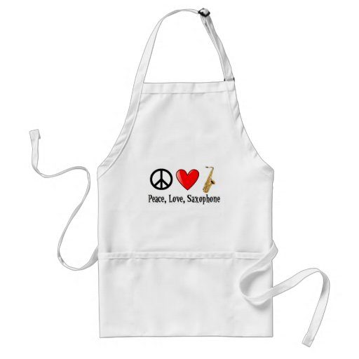Peace, Love, and Saxophone Apron