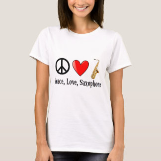 Peace, Love, and Saxophone T-Shirt