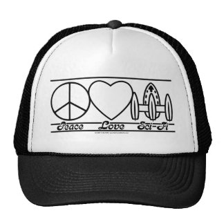 Peace Love and SciFi Trucker Hat
