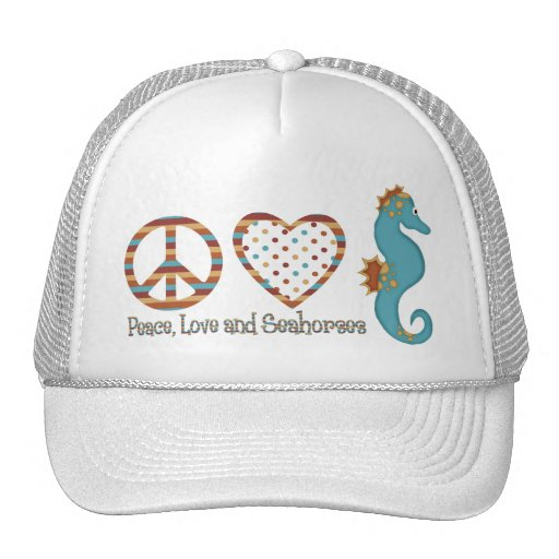Peace, Love and Seahorses Mesh Hat