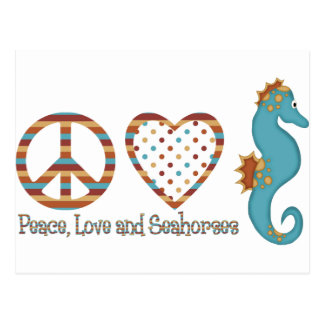 Peace, Love and Seahorses Postcards