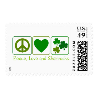 Peace, Love and Shamrocks Stamp