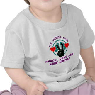 Peace Love And Show jumping. T Shirts