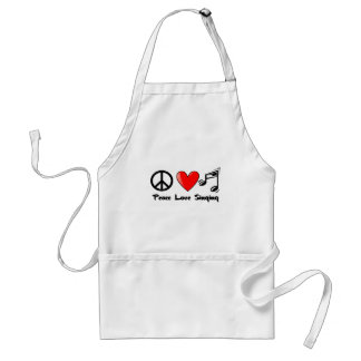 Peace, Love, and Singing Adult Apron