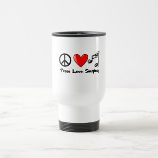 Peace Love and Singing Mugs