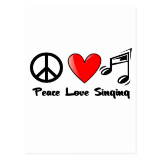Peace, Love, and Singing Postcard