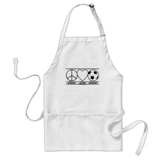 Peace Love and Soccer Adult Apron