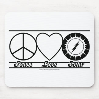 Peace Love and Solar Mouse Pads