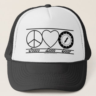 Peace Love and Solar Trucker Hat