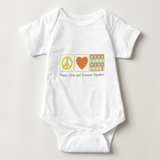 Peace, Love and Summer Vacation Baby Bodysuit