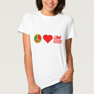 Peace, Love and SWIMMING Tee Shirt