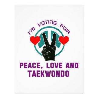 Peace Love And Taekwondo. Letterhead
