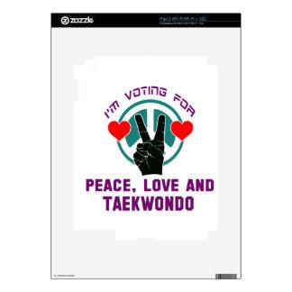 Peace Love And Taekwondo. iPad 2 Decals