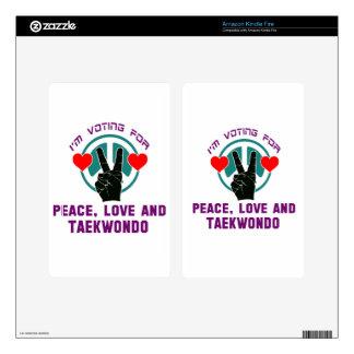 Peace Love And Taekwondo. Kindle Fire Decal
