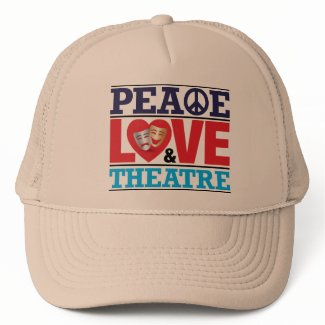 Peace, Love and Theatre Hat hat