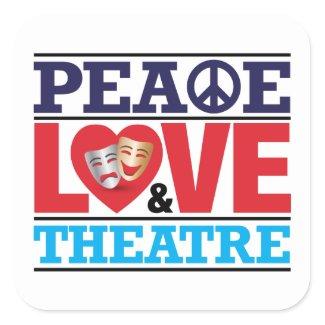 Peace, Love and Theatre Sticker sticker