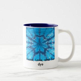 Peace, Love, and Tie-dye Coffee Mugs