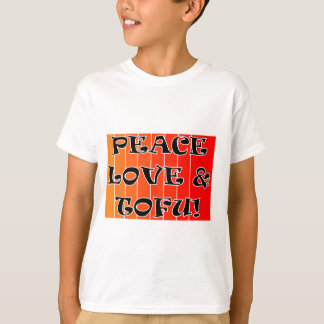 PEACE LOVE AND TOFU BLENDED ORANGE TO RED T-Shirt