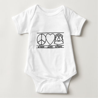 Peace Love and Trains Baby Bodysuit