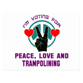 Peace Love And Trampolining. Postcard