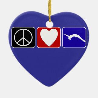 Peace Love and Tumble Ceramic Ornament