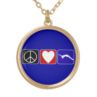 Peace Love and Tumble Gold Plated Necklace
