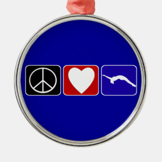 Peace Love and Tumble Metal Ornament