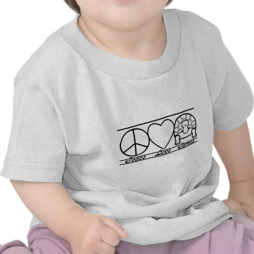 Peace Love and Turtles T-shirts