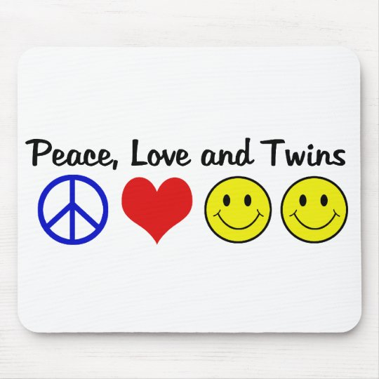 Peace Love and Twins Mouse Pad