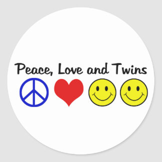 Peace Love and Twins Stickers