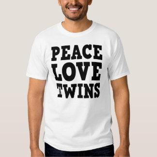 Peace Love and Twins Tee Shirt