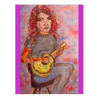 peace love and ukulele postcard