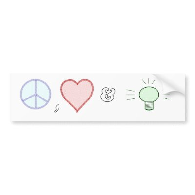 Peace Love and Understanding Bumper Stickers by cfusner