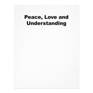 Peace, Love and Understanding Letterhead