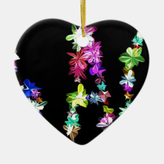 Peace Love and Unity Double-Sided Heart Ceramic Christmas Ornament