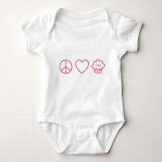 Peace, Love and Vegan Cupcakes Baby Bodysuit