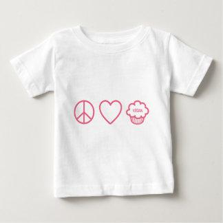 Peace, Love and Vegan Cupcakes Baby T-Shirt