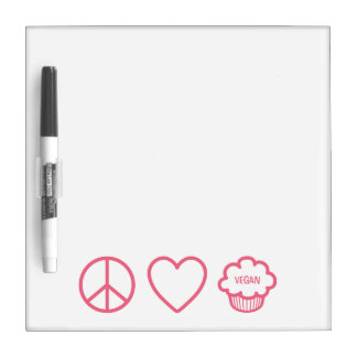 Peace, Love and Vegan Cupcakes Dry Erase Board