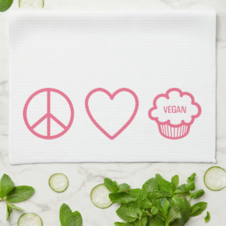 Peace, Love and Vegan Cupcakes Kitchen Towels