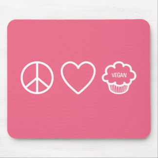 Peace, Love and Vegan Cupcakes Mouse Pad