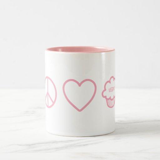 Peace, Love and Vegan Cupcakes Mugs