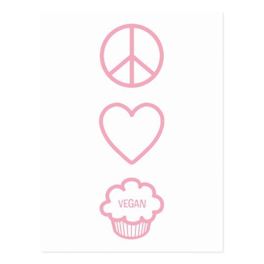 Peace, Love and Vegan Cupcakes Postcard