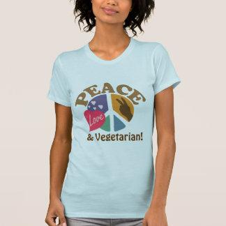 Peace Love and Vegetarian Tshirt