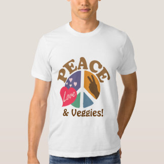Peace Love and Veggies T-Shirt
