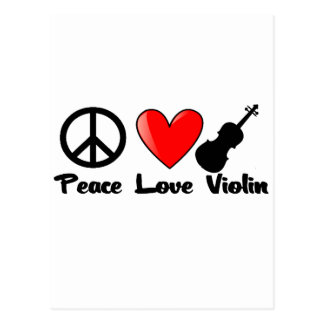 Peace, Love, and Violin Postcard