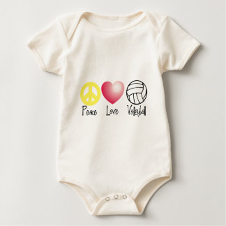 Peace, Love, and Volleyball Baby Bodysuit