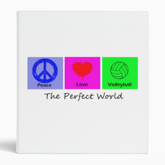 Peace Love and Volleyball Binder