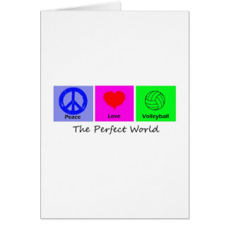 Peace Love and Volleyball Greeting Cards