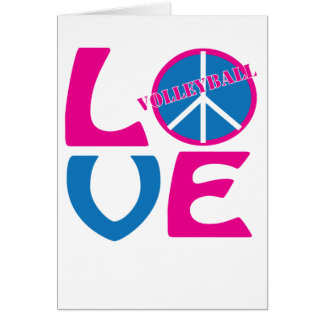 Peace, Love, and Volleyball Gifts and Apparel Card