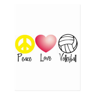 Peace, Love, and Volleyball Postcard